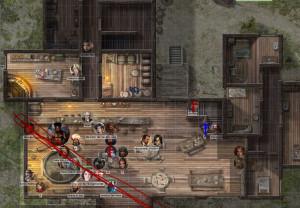 """Taverne: """"Zum betrunkenen Piraten"""" im Freihandelshafen von Mintarn"""